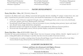 Head Pastry Chef Sample Resume Visual Assistant Cover Letter
