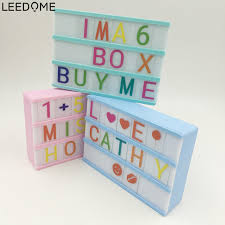 leedome diy message board night lamp a6 cinematic cinema light up letters box sign lightbox for
