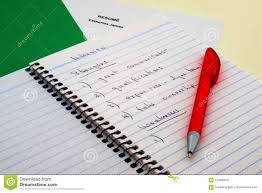 List Of Strengths For Interview Interview Notes And Pen Stock Image Image Of Green 124480247