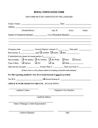 Rental Verification Form Fill Online Printable Fillable Blank