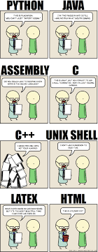 slightly different versions when you write your essays in programming languages comic