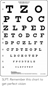 Distance Visual Acuity Chart Distance Visual Acuity Test For Testing At 20 Feet 20 Foot