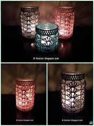 diy crochet lacy shell stitch mason jar lights instruction diy mason jar lighting craft ideas