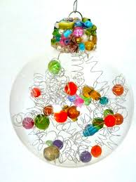 cool Christmas ornament - wire bead ornament