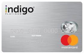 indigo credit card