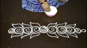 Said Design Muggulu Beautiful And Creative Side Rangoli Designs Kolam Side