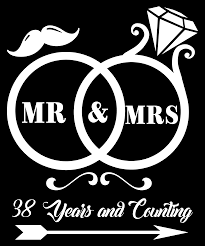 38th wedding anniversary mug wedding anniversary gifts for couples front