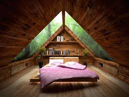 Amusing Small Attic Bed Room Idea With Ceiling Design Idea Plus - Attic bedroom