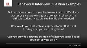 Examples Of Behavioral Interview Questions Types Of Interview Questions Ppt Download