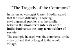 terres ecol question of the day which statement below is not  the tragedy of the commons in his essay ecologist garrett hardin argued that the main