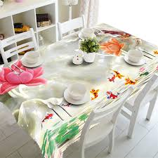 large dining table rectangular waterproof 3d tablecloth coffee party round table cover customized size flower cushion