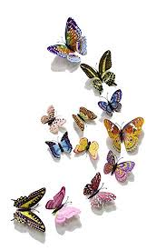 FiveRen <b>12pcs</b> 1 Pack <b>3D Double</b> Wings <b>Luminous</b> Butterfly Design ...