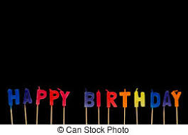 Happy Birthday Isolated On The Black Background