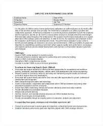Job Evaluation Template Employee Job Performance Evaluation Form In Doc Template Excel ...