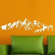 mountain range vinyl wall stickers