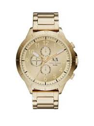 armani watches armani exchange watches for men very armani exchange gold multi dial gold ip plated bracelet strap mens watch
