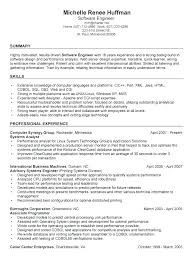 Best Resume Samples For Software Engineers Top Rated Sample Software