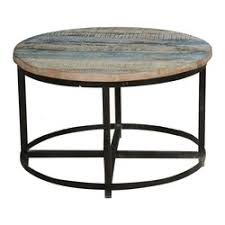 round industrial coffee table. Bithlo Reclaimed Wood Top Round Industrial Coffee Table L