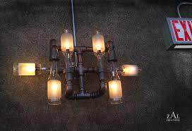 man cave light fixtures. Beer bottle light fixture.