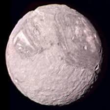 Miranda, moon of Uranus - The Solar System on Sea and Sky