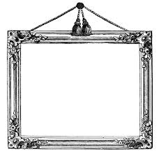black antique picture frames. I Thought This Was Such A Pretty Vintage Graphics Frame, Love How Ornate It Is, And The Little Tassels Are So Cute! Made One In Few Crazy Neon Black Antique Picture Frames M