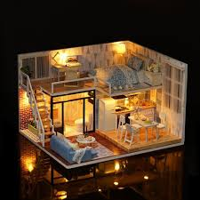 inexpensive dollhouse furniture. Leadingstar Diy Wooden Doll House Furniture Kits Toys Handmade Craft Model Kit Dollhouse Gift For Children Buy Cheap Inexpensive M