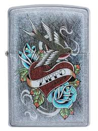 <b>Зажигалка Vintage</b> Tattoo с покрытием Street Chrome <b>Zippo</b> ...