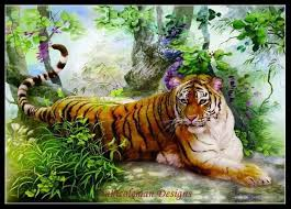 Tiger Color Chart Single Tiger Counted Cross Stitch Patterns Printable
