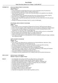Deployment Engineer Resume Samples Velvet Jobs