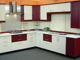 modern kitchen setup: elegant kitchen cabinets sets maroon and white colors l corner kitchen design for simple model kitchen