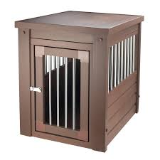 ecoFLEX Dog Crate/ End Table with Stainless Steel Spindles - Free Shipping  Today - Overstock.com - 16643641