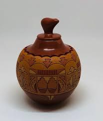 Polychrome Miniature by Dolores Curran - Santa Clara Pueblo ...
