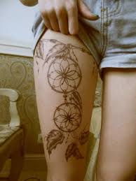 Dream Catcher Tattoo On Thigh 100 Best Dreamcatcher Tattoos 29