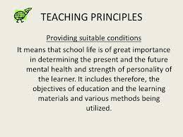 principles of teaching teaching principles