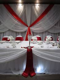 Red White And Silver Wedding Decoration Ideas