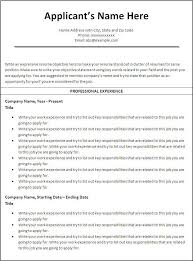 Professional Chronological Resume Template Fascinating Chronological