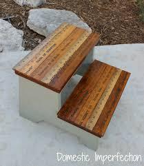 diy kids stool w yardstick steps