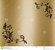Ornamental Border On Gold Satin 3d Stock Illustration Image 5911555