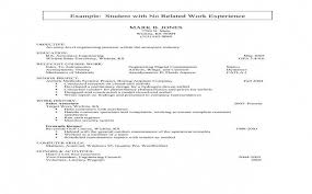 Resume With No Job Experience Awesome Sample Resume With One Job