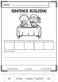 November Sentence Building | Kindergarten worksheets, Thinking ...