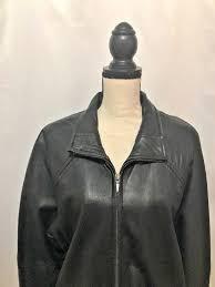 field gear women black leather jacket
