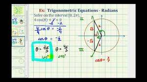 ex 2 solve a basic trig equation using the unit circle and reference triangles