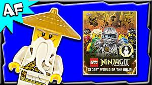Lego Ninjago Exclusive Sensei Wu Minifigure Review - DK Secret World of the  Ninja book - YouTube