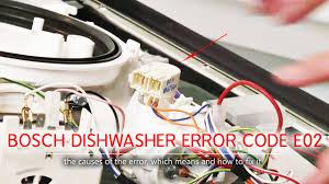 Mã lỗi E02 (hoặc F02) máy rửa bát Bosch - Máy rửa chén Hướng dẫn sửa chữa - Bếp  từ Bosch, máy rửa bát nhập khẩu Đức