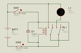 proteus tutorial switches and relays types screenshots circuit diagram of relay latching