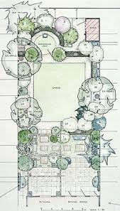 Small Picture Garden Design Plan with main square lawn and hidden rear circular