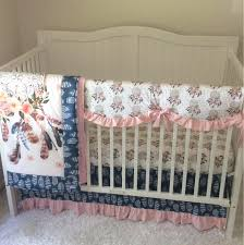 Dream Catcher Crib Bedding Pink And Navy Blue Crib Bedding 30