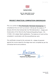 Certificates Peninsular Petrotech Engineering W L L