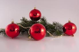 4 Große Rote Weihnachtskugeln Aus Glas 10cm Rot Glanz Uni