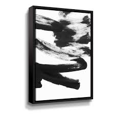 black white and grey wall art